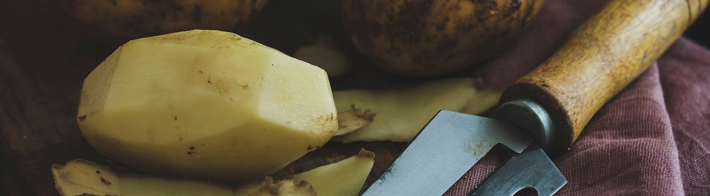 Designers ontwerpen frietzakje van aardappelschillen